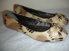 NEW DKNY BIANCA Size 10 NUDE SNAKE PRINT FLATS BALLET ROUND TOE SHOES WOMEN NICE