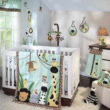 Lambs & Ivy 6 Piece Baby Crib Bedding Set Peek A Boo Jungle Includes Bumper NEW