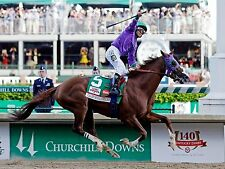 CALIFORNIA CHROME 2014 KENTUCKY DERBY WINNER HORSE RACE RACING 8X10 PHOTO #5