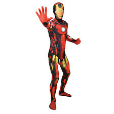 MARVEL COMICS IRON MAN Adulto Unisex Cosplay Costume Morphsuit grandi MULTI-COLOUR