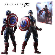 SQUARE ENIX PLAY ARTS KAI MARVEL UNIVERSE CAPTAIN AMERICA ACTION FIGURES KID TOY
