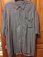 Genuine VERSACE vintage a Manica Corta Grigio Camicia Taglia L Oversize Grunge shirt