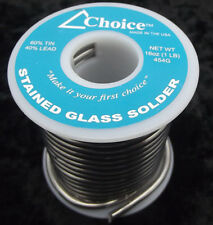 60/40 SOLDER Choice Brand One Pound Spool Stained Glass Supplies Lead Tin