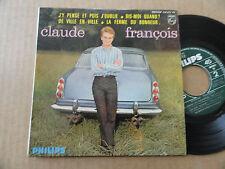 """DISQUE 45T DE  CLAUDE FRANCOIS  """" DE VILLE EN VILLE """""""