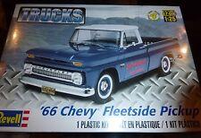 REVELL 1966 Chevy Fleetside Pickup MODEL CAR MOUNTAIN 1/25 FS
