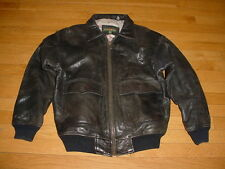 Vintage Outback Red Australian Distressed Leather Pilot Bomber Flight Jacket S