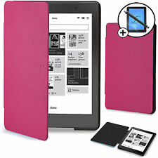 Forefront Cases® Pink Smart Case Cover Kobo Aura Edition 2 Screen Prot & Stylus