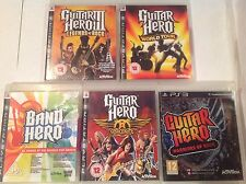 GUITAR Hero ps3 Bundle III 3 Leggende Rock World Tour AEROSMITH Guerrieri della band
