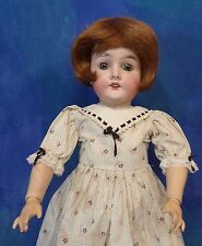 Antique 1890s AM Armand Marseille Queen Louise German Bisque Doll Vtg Frock DB23