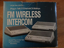 Realistic Plug n' Talk 2 Channel 3 Station FM Wireless Intercom 43-214A Works