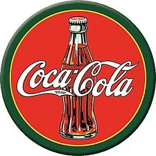 Coca Cola 1930s Bottle round fridge magnet     77mm diameter  (de)