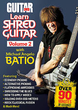 LEARN SHRED GUITAR VOLUME 2 MICHAEL ANGELO BATIO GUITAR WORLD DVD NEW