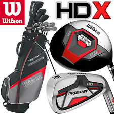 """NEW 2017"" WILSON PROSTAFF HDX MENS COMPLETE GOLF SET + STAND BAG +FREE GIFT !!"