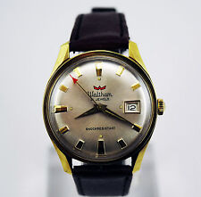 Vintage Waltham 21 Jewel , manual wind with date men's watch, Near mint!