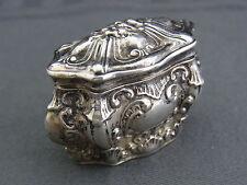 alte Silberdose , Pillendose , Schnupftabak 800/-Silber ca.um 1850