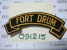 Army Tab Scroll Military Service patch FORT DRUM German made?