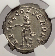 AEMILIAN 253AD NGC Certified Ch AU Ancient Silver Roman Rome Coin APOLLO i54739