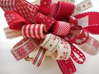 ASSORTED SCANDINAVIAN CHRISTMAS RIBBON BUNDLE 8 X 1MTR BERISFORDS