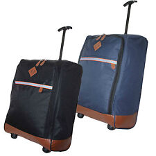50x40x20 LIGHTWEIGHT HAND LUGGAGE TROLLEY WHEELED CABIN BAG RYAN AIR EASY JET