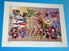 "Marvel Universe ""The Golden Years"" Superheroes Limited Edition Lithograph"
