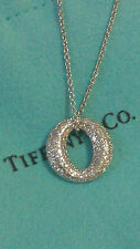 Tiffany & Co. Platinum & Diamond Mini Sevillana Pendant Necklace