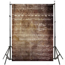 5X7FT Music Note Retro Vinyl Photography Backdrop Background Photo Studio Prop