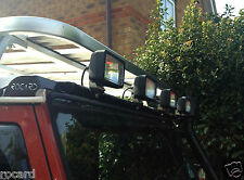 Raised Intake compatible low profile light bar for Land rover Defender or series