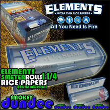 10 Elements Rolls Dispenser, Ultra Thin Rice Rolling Paper 78mm 1¼ Size Full Box