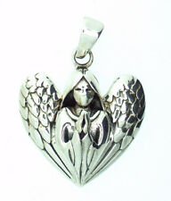 Praying Guardian Angel Heart 925 Silver Pendant~Lisa Parker~Protection~Jewellery