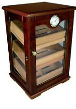 CAMBRIA 150 Cherry Finish Counter-Top Display- External Hygrometer Cigar Humidor