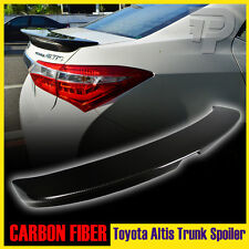 For Toyota Corolla Altis 4DR Sedan EUR 2014+ Rear Trunk Spoiler Carbon Fiber