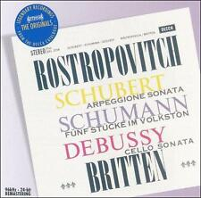 Works for Cello and Piano (Britten, Rostropovich) CD NEW
