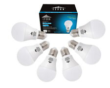 LESON LED Light Bulbs A19 E26 110V 75W Equivalent 1125lm 9W Daylight (6 pack)