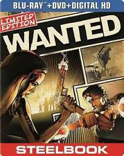 Wanted [Blu-ray/DVD] [Includes Digital Copy; UltraViolet; SteelBook] New Blu-ray