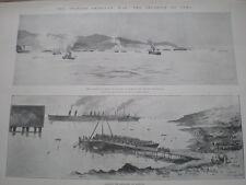 Español American War invasión Cuba las tropas estadounidenses tierra baiquiri 1898 Impresiones Antiguas