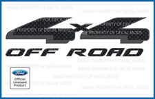 Ford F150 4x4 Off Road Decals - FCFB carbon fiber black stickers truck bed side