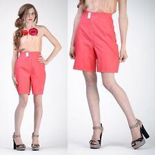 VTG 50s 60s PINK High Waist Pants Jamaican SHORTS New Old Stock