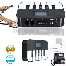 3.5mm Auto LCD Digital/IP Call Telephone Voice Recorder SD Phone Recording Box