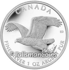 Canada 2014 Wildlife American Bald Eagle Hunting $5 1 Ounce Pure Silver Proof