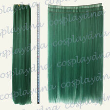 "24"" Dark Green Heat Stylable Hair Weft Extention (3 pieces) Cosplay DNA 7DGE"