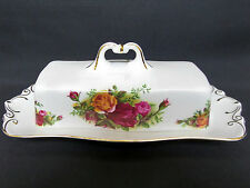 OLD COUNTRY ROSES LIDDED BUTTER DISH, 1st QUALITY, VGC, ENGLAND, ROYAL ALBERT