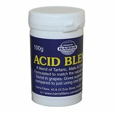 Harris Acid Blend 100g tub. (Citric, Tartaric, Malic) for wine cordial making