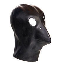 Black Latex Crow Gimp Mask Fetish Fancy Dress Halloween Bondage Bird Stag Night