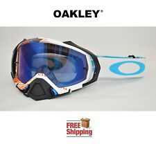 OAKLEY® MAYHEM™ PRO GOGGLE MX ATV MOTOCROSS MOTORCYCLE DIRT ORANGE BLUE MIRROR