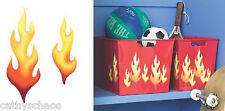 Wallies 25 Flames Halloween Costume Accessory Art Craft Wall Decals Decorations