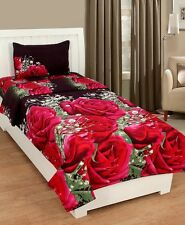 Homefab India 3D Single Bed-Sheet with 1 Pillow Cover (Single166)