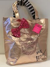 Too Too Pretty Skull Tote Bag by Betsey Johnson