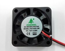 1pc x 40mm 4cm 12VDC 2 Pin 40x40x10mm NEW DC Brushless Exhaust Cooling Fan