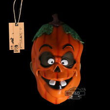Scary Green Latex Incisors Pumpkin Halloween Party Mask Costume Prop Fancy Dress