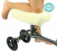 Knee Walker Pad Cover By Vive - Best Faux Sheepskin Pad For Rolling Scooter - -